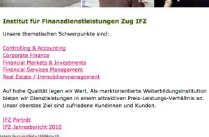 Auch das Institut für Finanzdienstleitungen ist als weiterer Globalisierer im SNB-Rat vertreten: Die Frage ist, wieweit hier noch die Schweizer Interessen Geltung bekommen können