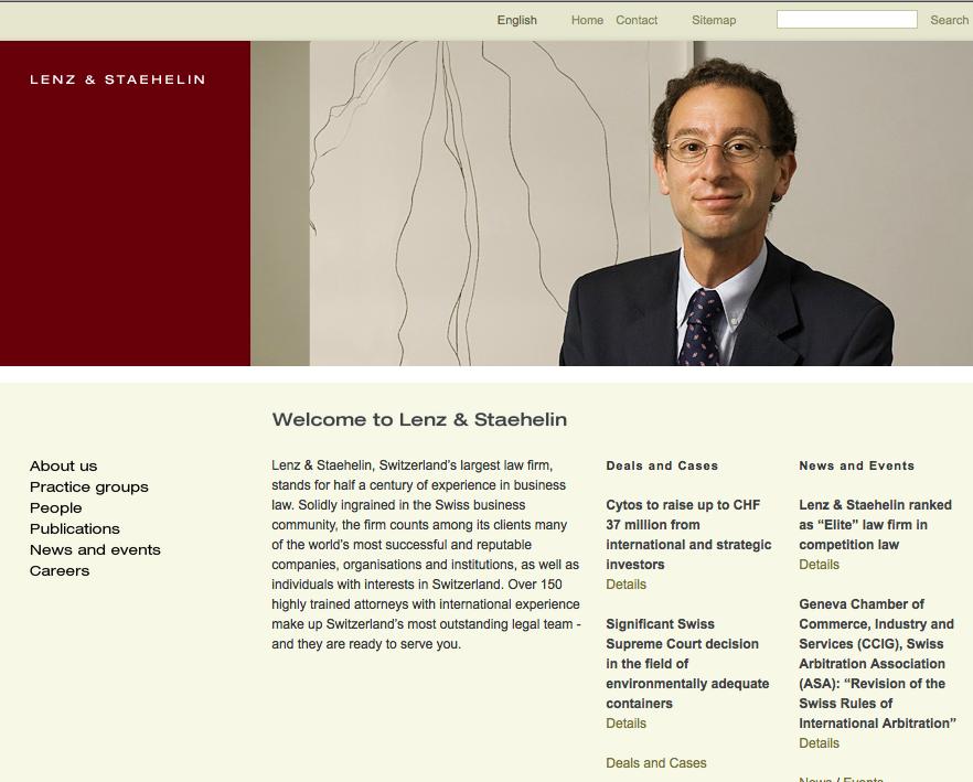 Lenz & Staehelin Attorneys-at-Law... In Anbetracht der Webseite ist man im wahrsten Sinne des Wortes sprachlos...
