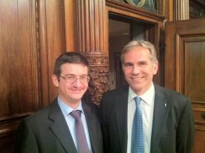 Die SVP nominiert Lorenz Nägelin und Patrick Hafner für die Regierungsratswahlen (Foto: SVP Basel)