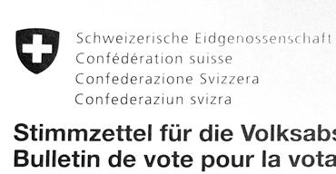 Doch auf dem Stimmzettel finden sich nur die ersten zwei Varianten wieder. (Bild: Der-Bund.ch)