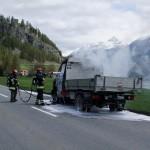 Lieferwagenbrand in Ponte-Campovasto (La Punt-Chamues-ch)