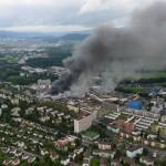 Schlieren: Großbrand in Autohaus
