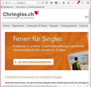 Bildschirmfotoausriß: Chringels.ch