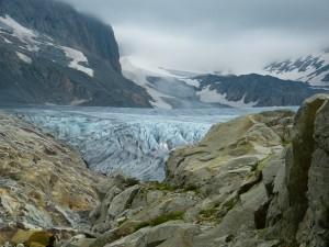 Klimawandel: Monitoring der Schweizer Gletscher gesichert. (Symbolbild, Rhonegletscher)