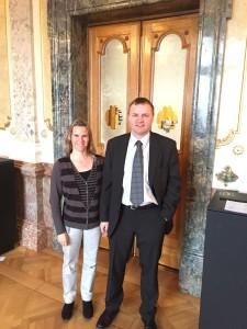 V.l.: SVP-Nationalrätin Andrea Geissbühler und BDP-Nationalrat Bernhard Guhl (Foto: VSPB)