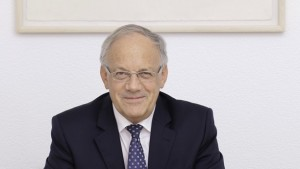 Bundespräsident Johann Schneider-Amann mit Bundeskanzlerin Merkel an de CeBIT. (Foto: Bundeskanzlei)