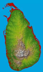 Sommaruga reist nach Sri Lanka und Indien (Bild: Karte von Sri Lanka)