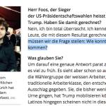 Zur Wahl von Trump (und zu Florian Foos und anderen)