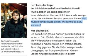 """Dr. Florian Foos kann die Wahl nicht akzeptieren: """"Nun müssen wir die Frage stellen: Wie konnte es dazu kommen?"""" (Bildschirmfotoausriß: Blick.ch)"""