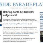 Behring-Konto bei Bank Bär aufgetaucht
