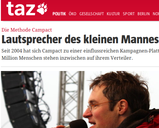 """Camapact von Christoph Bautz: """"Sprecher des kleinen Mannes"""" oder ein abgekartetes Spiel mit Spekulanten und Polit-NGOs im Hintergrund?"""