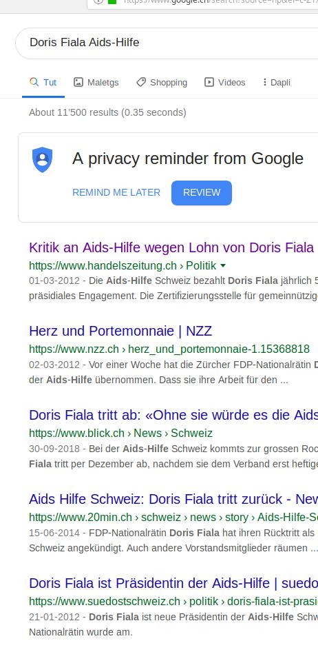 Doris Fiala wurde in sozialen Medien Geldgier vorgeworfen. Sie soll sich mit ehrenamtlichen Mandaten bereichert haben (Foto: Google.ch)