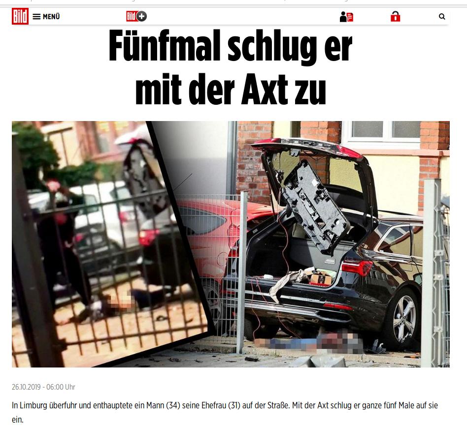 Axtmord von Limburg mit Enthauptung des Opfers: Es war 'ein Mann'